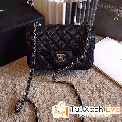 Túi Xách Chanel Classic Super Màu Đen Da Hột Size 17 Đẹp