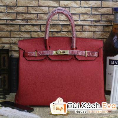 Túi Xách Hermes Birkin Super Da ToGo Size 35 Màu Đỏ Đẹp