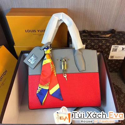 Túi Xách Louis Vuitton Fashion Simple Màu Đỏ Khóa Vàng