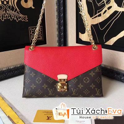 Túi Xách LV Canvas Pallas Chain Super Màu Đỏ Đẹp
