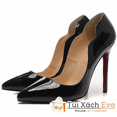 Giày Gót Nhọn Christian Louboutin Super Lượn Sóng Màu Đen Đẹp