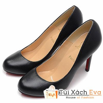 Giày Gót Nhọn Christian Louboutin Super Màu Đen Đẹp