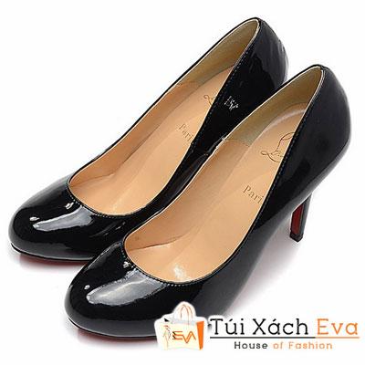 Giày Gót Nhọn Christian Louboutin Super Da Bóng Màu Đen Đẹp