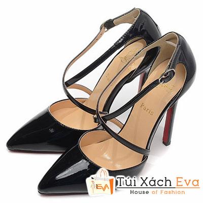 Giày Gót Nhọn Christian Louboutin Super Quai Chéo Màu Đen Đẹp