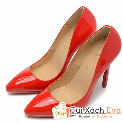 Giày Gót Nhọn Christian Louboutin Super Da Bóng Màu Đỏ Đẹp