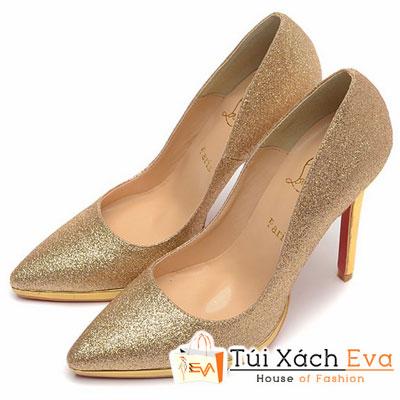 Giày Gót Nhọn Christian Louboutin Super Màu Gold Đẹp