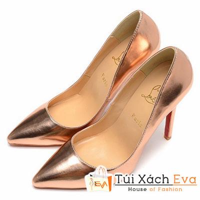 Giày Gót Nhọn Christian Louboutin Super Màu Rượu Champagne Đẹp