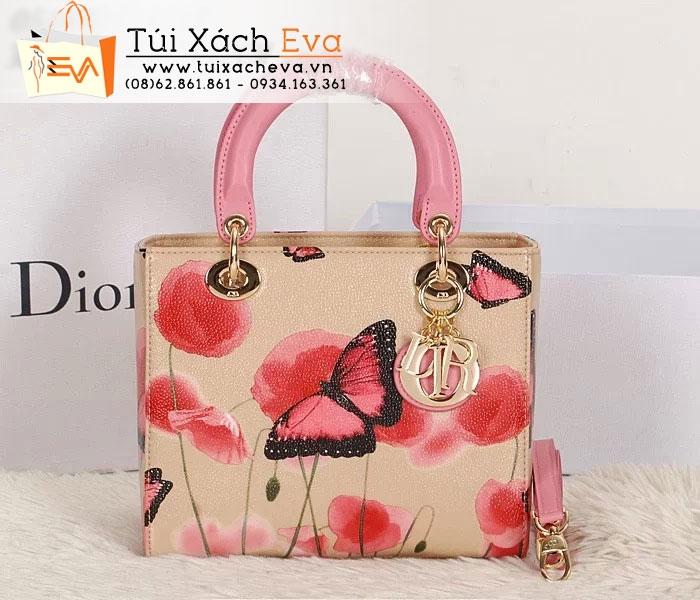 Túi Xách Dior Lady Super Hoa Bướm Màu Nâu Đẹp