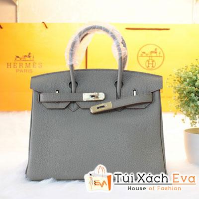 Túi Xách Hermes Birkin Super Size 30 Da ToGo Màu Xám Đẹp