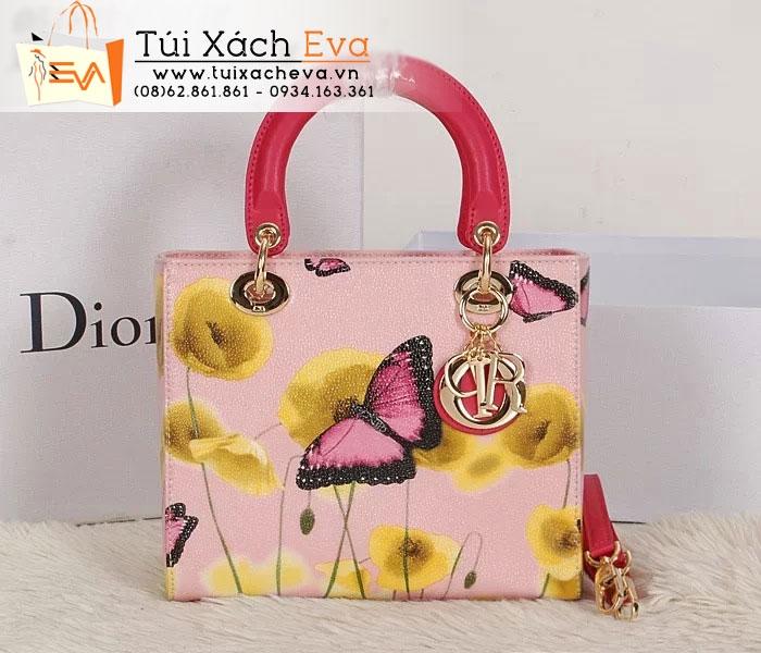 Túi Xách Dior Lady Super Hoa Bướm Màu Hồng Đẹp