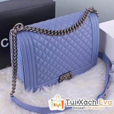 Túi Xách Chanel Boy Super Màu Xanh Nhạt Đẹp