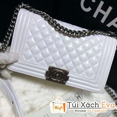 Túi Xách Chanel Boy 2014 Super Màu Trắng Đẹp