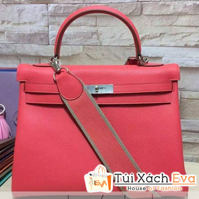 Túi Xách Hermes Kelly Siêu Cấp Da ToGo Màu Hồng Size 35 Đẹp