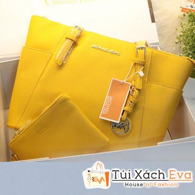 Túi Xách MK Jet Set Top Zip Tote F1 Màu Vàng Đẹp