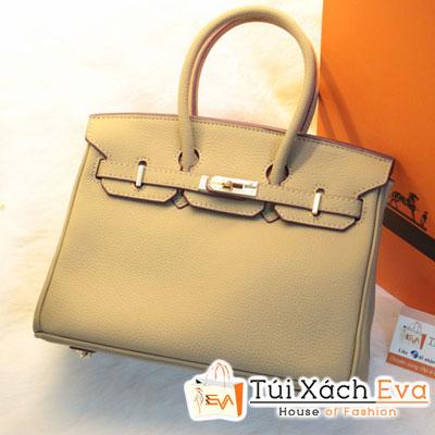 Túi Xách Hermes Birkin Super Sale Màu Xám Da ToGo Size 25 Đẹp