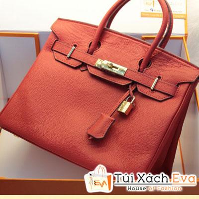 Túi Xách Hermes Birkin Super Sale Màu Đỏ Da ToGo Size 30 Đẹp