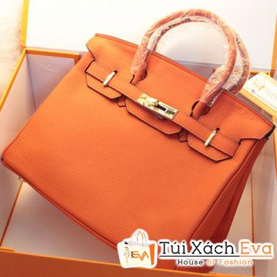 Túi Xách Hermes Birkin Super Sale Màu Cam Da ToGo Size 30 Đẹp