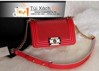 Túi Xách Chanel Boy Ngọc Trinh Super Màu Đỏ Đẹp