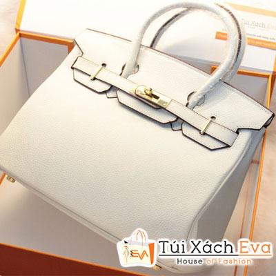 Túi Xách Hermes Birkin Super Sale Màu Trắng Da ToGo Size 30 Đẹp