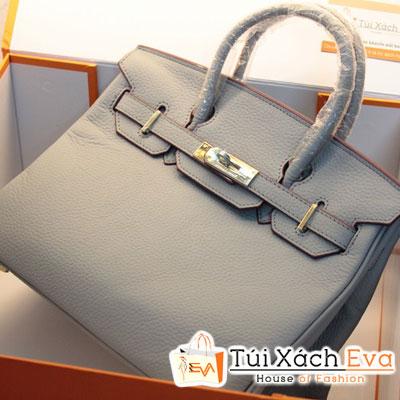 Túi Xách Hermes Birkin Super Sale Màu Xanh Cổ Vịt Da ToGo Size 30 Đẹp