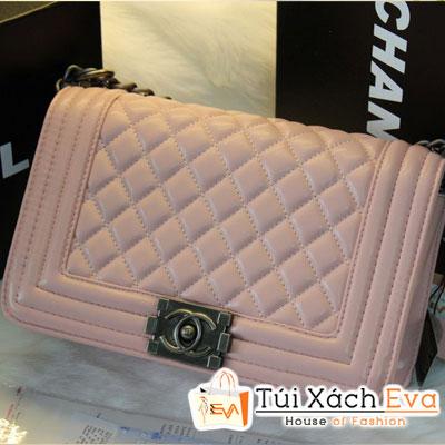 Túi Xách Chanel Boy Super Sale Màu Hồng Phấn Đẹp