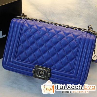 Túi Xách Chanel Boy Super Sale Màu Xanh Coban Đẹp