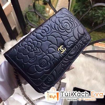 Ví Chanel Siêu Cấp Hoa Hồng Màu Xanh Đen Đẹp