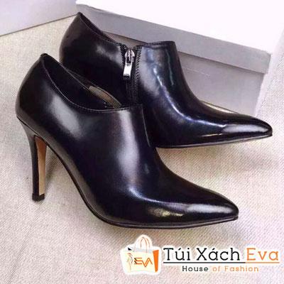 Giày Boot Cao Gót Dior Lót Da Cừu Màu Đen Đẹp