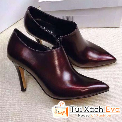 Giày Boot Cao Gót Dior Lót Da Cừu Màu Đỏ Tía Đẹp