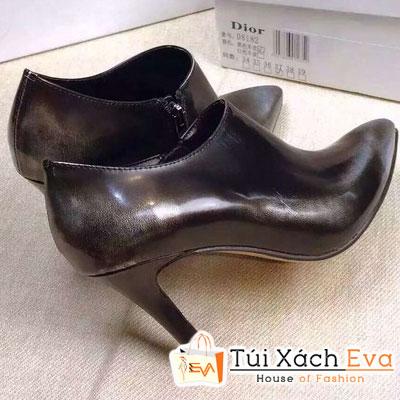 Giày Boot Cao Gót Dior Lót Da Cừu Màu Xám Bạc Đẹp