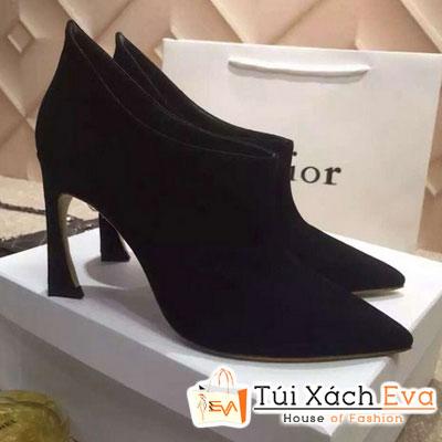 Giày Boot Cao Gót Dior Màu Đen Đẹp