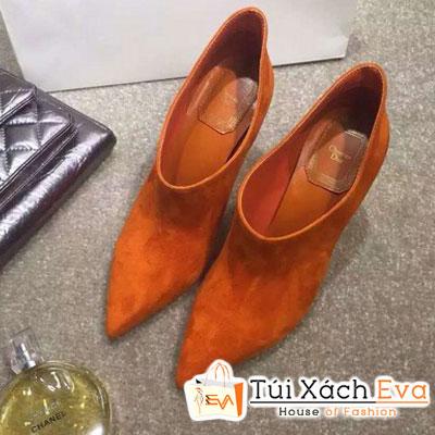 Giày Boot Cao Gót Dior Màu Cam Đẹp