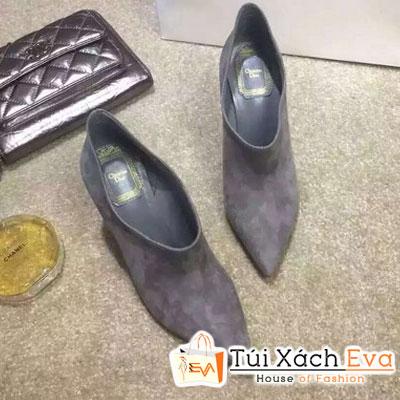 Giày Boot Cao Gót Dior Màu Xám Đẹp