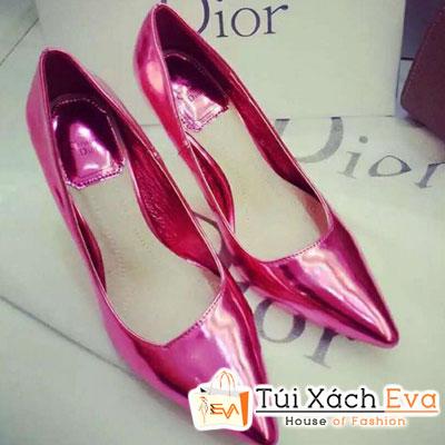 Giày Cao Gót Bóng Dior Màu Hồng Đẹp