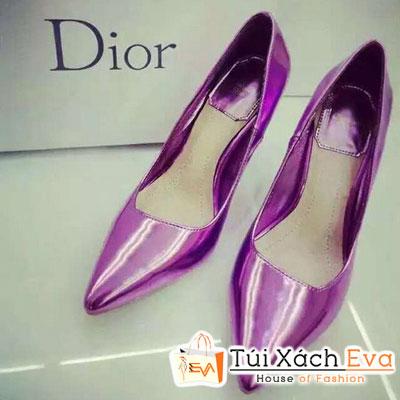 Giày Cao Gót Bóng Dior Màu Tím Đẹp