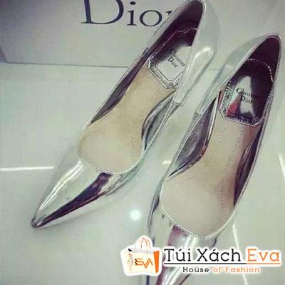 Giày Cao Gót Bóng Dior Màu Bạc Đẹp