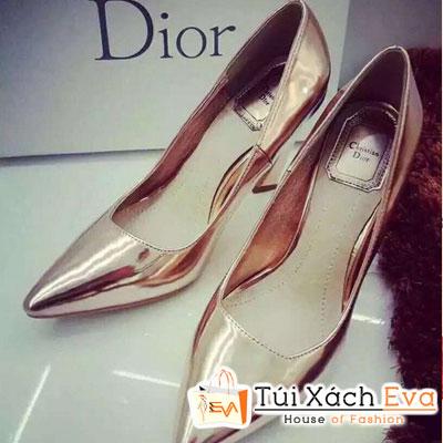Giày Cao Gót Bóng Dior Màu Gold Đẹp