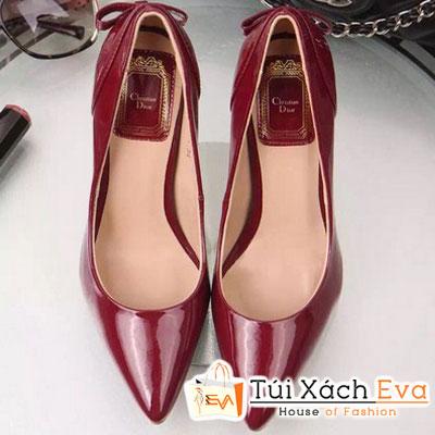 Giày Cao Gót Dior Màu Đỏ Đô Đẹp