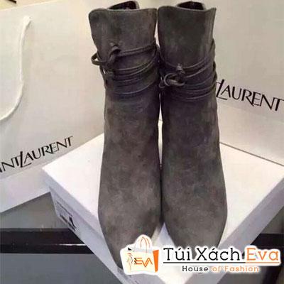 Giày Boot Cao Yves Saint Laurent Màu Xám Đẹp