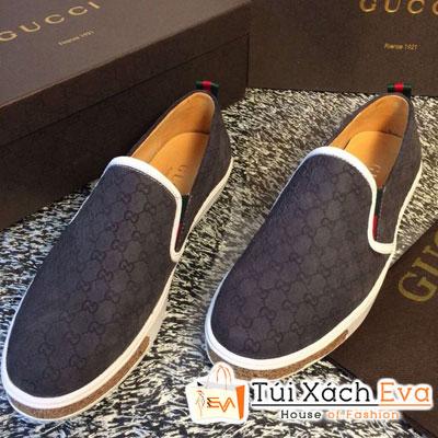 Giày Gucci Flat Màu Xám Đậm Đẹp