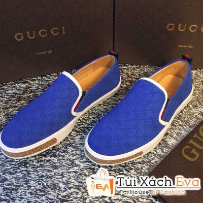 Giày Gucci Flat Màu Xanh Cobalt Đẹp