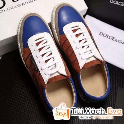 Giày Thể Thao D&G Màu Xanh Cobalt Đẹp