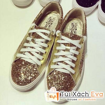 Giày Thể Thao Savaltore Ferragamo Kim Tuyến Màu Gold Đẹp