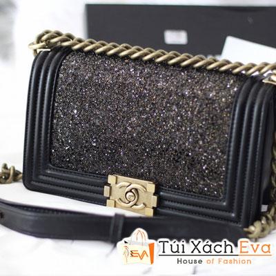 Túi Xách Chanel  Đen Ánh Vàng F1