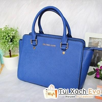 Túi Xách MK Selma Super Sale Màu Xanh Cobalt Đẹp