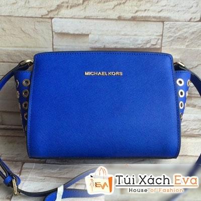 Túi Xách MK Selma Super Không Quai Lỗ Màu Xanh Cobalt Đẹp