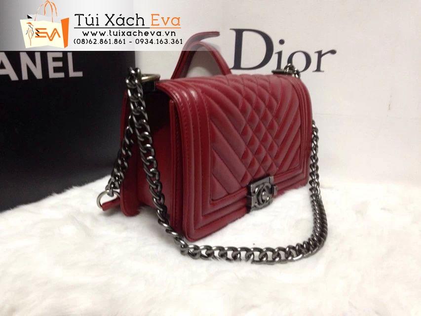 Túi Xách Chanel Boy Super Màu  Đỏ Đô Đẹp