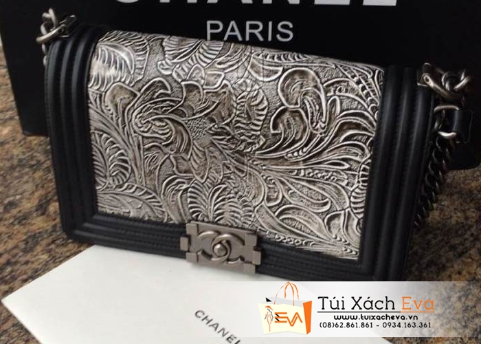 Túi Xách Chanel Boy Hoa Super Fake Đẹp