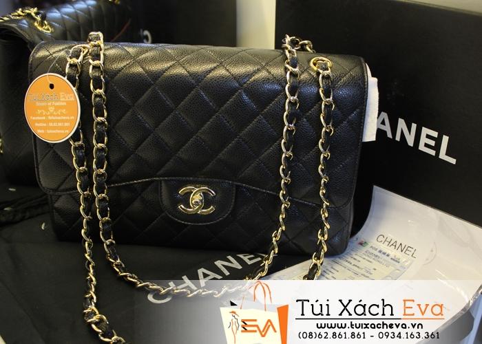 Túi Xách Chanel Classic Màu Đen Da hột Siêu Cấp  Đẹp