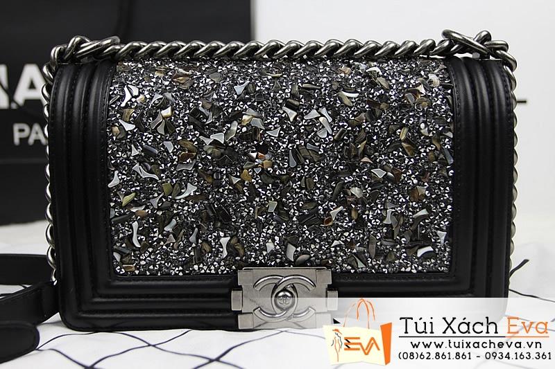 Túi Xách Chanel Boy Đá Khóa Bạc Siêu Cấp  Đẹp